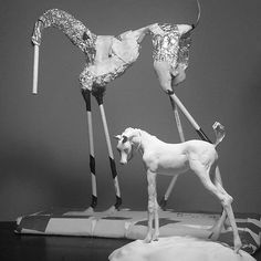 Armatures for equine sculpture and air dry clay by Susie Benes