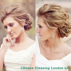 Soft updo for a wedding or special holiday occasion! Wedding Hair Front, Wedding Hair And Makeup, Fancy Hairstyles, Bride Hairstyles, Front Hair Styles, Curly Hair Styles, Mother Of The Bride Hair, Bridal Hair Updo, Wedding Hair Inspiration