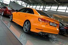 Audi shows off Sedan with Glut Orange paint - Cars My Dream Car, Dream Cars, Audi A3 Cabriolet, Exterior Paint Schemes, Audi Rs3, Cars Uk, Car Painting, Fast Cars, Custom Cars