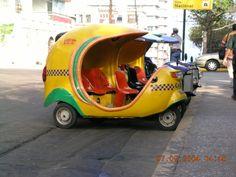Strange tuk-tuk vehicle; Havana 2004
