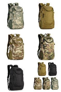 [Visit to Buy] Waterproof Outdoor Tactical Backpack Hiking Camouflage Backpack Travel Shoulder Bag #Advertisement