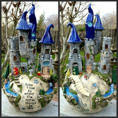 Take time to enjoy the little things in life - handmade clay castle sphere