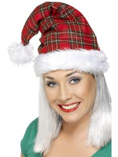 Deluxe Santa Hat With Tinsel  b10cb40aba4