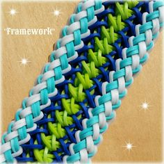 "New ""Framework"" Rainbow Loom Bracelet How To Tutorial"