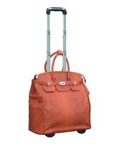 Poshly Pack All Those Accessories Aboard With This Chic Travel Tote Designed Durable Wheels