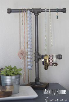 DIY organizador de la joyería Industrial