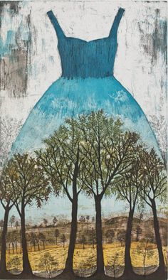 Saarnilehto (Ash Grove) Etching on Paper Dress Painting, Landscape Drawings, Landscapes, Collage Art Mixed Media, Gravure, Figurative Art, Contemporary Artists, Printmaking, Amazing Art