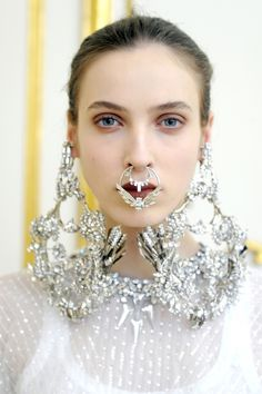 Givenchy and Balmain: GIVENCHY Haute Couture by Riccardo Tisci Spring Summer 2012 Jewelry Detail