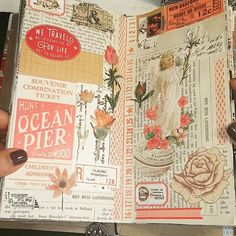 A quick flip through of my regular size Traveler's Notebook. I am half way in my notebook so thought it would be a fun idea to show my spreads in one video. #craft #crafting #craftybymarta #madebymarta #madebyme #crafttable #mycrafttable #myhappyplace #paper #papercraft #vintage #vintagepaper #creativity #instaphoto #instacraft #tn #mtn #travelersnotebook #journaling #instavideo #video #youtube #instaart #modernart #mixedmedia #mixedmediaart #winter2018 #february2018