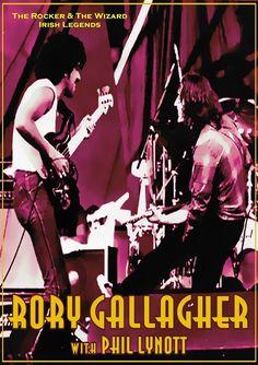 Rory Gallagher & Phil Lynott Poster ( Irish Legends )