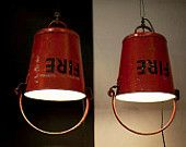 50s' Fire bucket hanging light