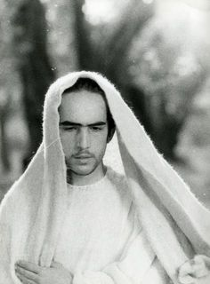 Enrique Irazoqui as Christ in  Il Vangelo secondo Matteo, directed by Pier Paolo Pasolini, 1964.