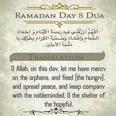 Ramadhan Day 8
