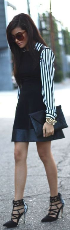 #Button-up #Shirt Under #Dress | Try It! by SpazMag