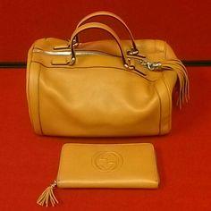 "Spotted while shopping on Poshmark: ""GUCCI BOSTON HANDBAG & WALLET LEATHER""! #poshmark #fashion #shopping #style #Gucci #Handbags"