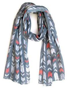 Scarf / Sarong - Geometric arrows Geometric Arrow, Arrows, Textile Design, Scarves, Textiles, Fox, Collection, Handmade, Accessories