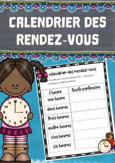 Calendrier des rendez-vous – Französisch Teaching French, Author, Calendar, Teaching French Immersion, Play Based Learning, Teaching Materials, Teachers