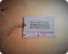 Etiqueta momentos felices / Handmade label