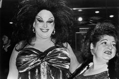 Divine and Edith Massey at the New York premiere of John Waters' Female Trouble. Photo: Fred W. McDarrah