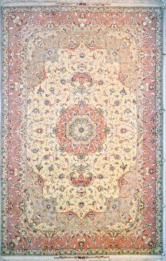 Olia Tabriz  Silk Persian Rug - Item# 1405 Size: 202 x 304 (cm)      6' 7 x 9' 11 (ft)