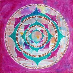 Resultado de imagem para mandala rainbow chakra om meditation