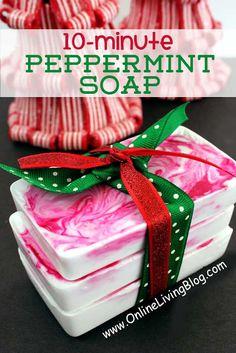 Homemade-soap-recipes-DIY-Peppermint-Soap