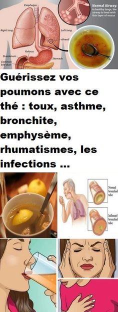 Guérissez vos poumons avec ce thé : toux, asthme, bronchite, emphysème, rhumatismes, les infections …