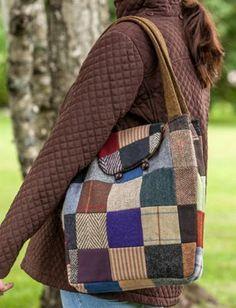 Irish Tweed Patchwork Tote | Reversible