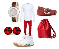 """""""Gucci"""" by sensational-boy ❤ liked on Polyvore featuring Balmain, NIKE and Gucci"""