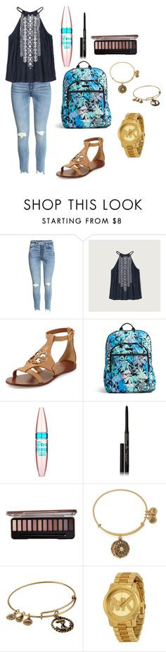 """""""school outfit"""" by fashionblogger2122 on Polyvore featuring Abercrombie & Fitch, Tory Burch, Vera Bradley, Maybelline, Anastasia Beverly Hills, Alex and Ani and Michael Kors"""