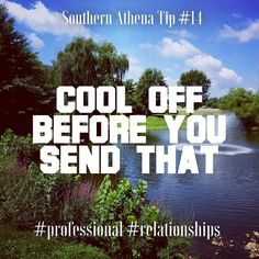 Keep a cool head when negotiations get heated. #southernathenatips #winning #professional #relationshipsmatter #realtor #realestate