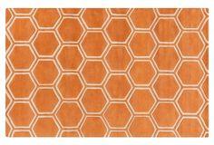 Honey Rug, Orange/Light Beige