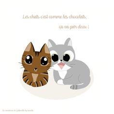 Les chats c'est comme le chocolat