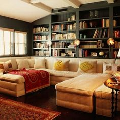 Great bookcases built in via home_decor