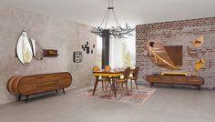 Zigana Ceviz Yemek Odası Tv Cupboard Design, Bedroom Cupboard Designs, Modern Furniture Online, Online Furniture Stores, Sofa Furniture, Living Room Furniture, Wardrobe Furniture, Living Rooms, Drawing Room Interior