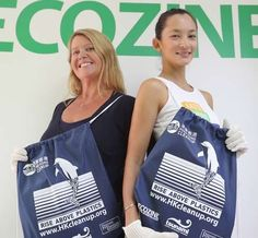 Lisa Christensen (left), founder and CEO of Ecozine, and Nissa Marion, co-founder and editor-in-chief. Photo: Edward Wong
