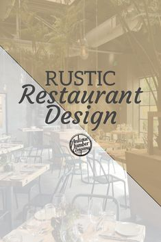 The use of reclaimed wood in restaurants is a design trend that'll definitely be around for quite a while. Rustic Restaurant, Restaurant Design, Design Trends, Wood, Woodwind Instrument, Timber Wood, Trees