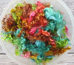 Reserved for P Dyed Mohair Fleece 5 Ounces by RainbowTwistShop