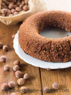 savarin chocolat noisette Patisserie Sans Gluten, Dessert Sans Gluten, Savarin, Gluten Free Cakes, Bagel, Doughnut, Biscuits, Food And Drink, Bread
