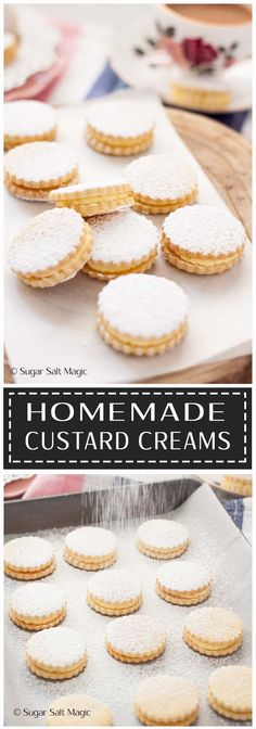 Homemade Custard Creams are delightful sugar cooki…