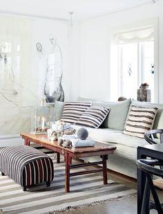 white + grey + wood living space #xmas