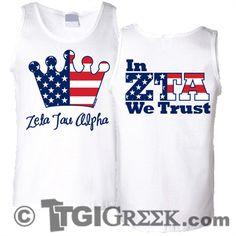 TGI Greek - Zeta Tau Alpha - In ZTA we Trust
