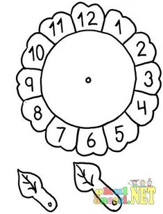 Clock craft idea for preschool kids Telling Time Activities, Preschool Activities, Preschool Math, Preschool Worksheets, Kindergarten Math, Math For Kids, Crafts For Kids, Clock Worksheets, Matching Worksheets