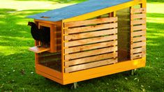 8 Super-Stylish Chicken Coops Tractor chicken coop - This small-space mobile coop is perfect for urb Urban Chicken Coop, Small Chicken Coops, Best Chicken Coop, Chicken Coop Designs, Building A Chicken Coop, Mobile Chicken Coop, Raising Backyard Chickens, Keeping Chickens, Herb Garden Design