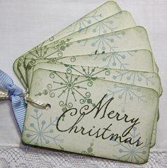 Snowflake Christmas Gift Tags  Custom by TorisCustomCreations, $4.25