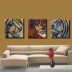 Art: The girls by Artist Thomas C. Pop Art Face, Chicago Artists, Acrylic Painting Tutorials, Happy Paintings, Artist Portfolio, Art Day, Cool Art, Abstract Art, Illustration Art