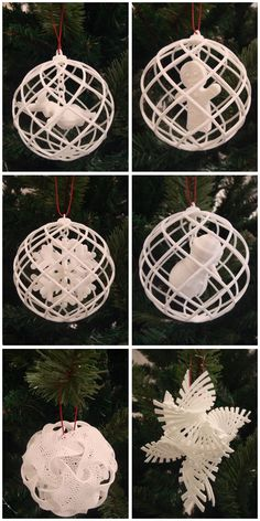 3D Printed Christmas ornaments