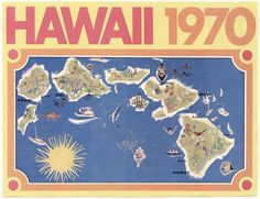 """A """"map"""" of #Hawaii from #1970."""