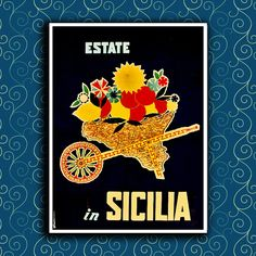 Make a house a home with stunning Italy Travel posters from Zazzle. Choose from thousands of great designs or unleash your inner creativity and design custom posters today! Vintage Italian Posters, Vintage Travel Posters, Vintage Ads, Vintage Travel Wedding, Italy Art, Sicily Italy, Custom Posters, Italy Travel, Framed Artwork