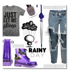 """""""~Rainy Day~"""" by dolly-valkyrie ❤ liked on Polyvore featuring G·Six Workshop, One Teaspoon, Topshop and Deborah Lippmann"""